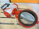 Butterfly valve DN 250 with actuator and positioner