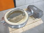 Stainless steel butterfly valve DN 300 with actuator