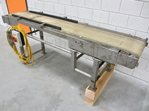 Belt conveyor 2250 x 400 - stainless steel frame
