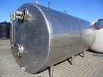 10,000 litre insulated horizontal stainless steel vessel