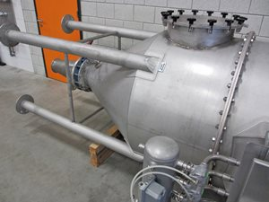 s/s ATEX dust filter with explosion venting safety
