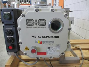 S+S Rapid Compact 70 gravity fall metal detection system with separator