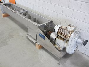 Lump breaker/Screw conveyor 2450 x 400 - s/s type 316