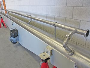Tube conveyor 200 x 7400 mm - s/s - CIP-claening