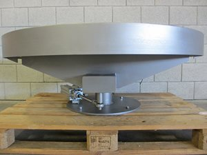 Belt conveyor turntable – modular belt – 405 x 1040 mm