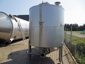 6000 liter insulated s/s type 316 vertical tank