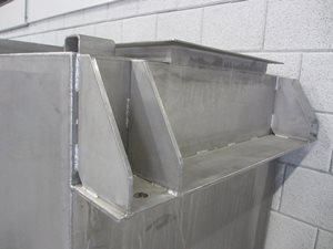 stainless steel hopper - 1500 litre
