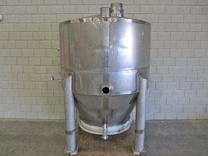 2700 litre stainless steel silo with vibration bottom