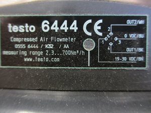 Testo 6444 compressed air counter DN 50 - unused