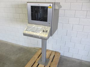 Computer cabinet with keyboard - stainless steel - waterproof