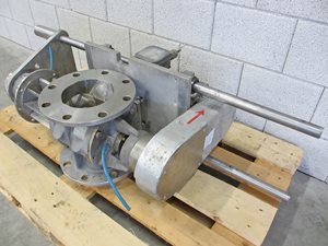 TBMA HAR 150 quick clean rotary valve of AISI 316 ATEX