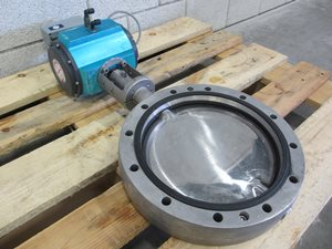 APV butterfly valve DN 250 with pneumatic actuator