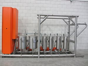 Liquids dosing station (6x dosing pump with storage tank)